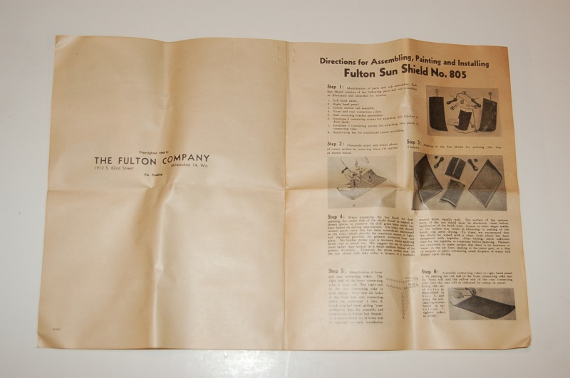 Fulton Sun Visors - NOS Parts from the Past c76e272730d